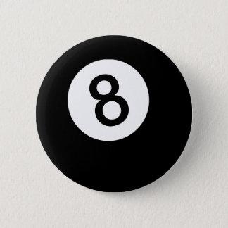 Bóton Redondo 5.08cm Bola 8 ou bola preta