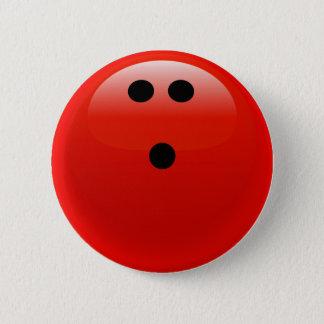 Bóton Redondo 5.08cm Bola de boliche vermelha