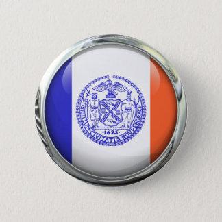 Bóton Redondo 5.08cm Bola de vidro da bandeira da Nova Iorque