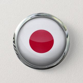 Bóton Redondo 5.08cm Bola de vidro da bandeira de Japão