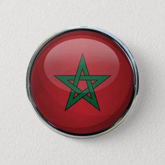 Bóton Redondo 5.08cm Bola de vidro da bandeira de Marrocos