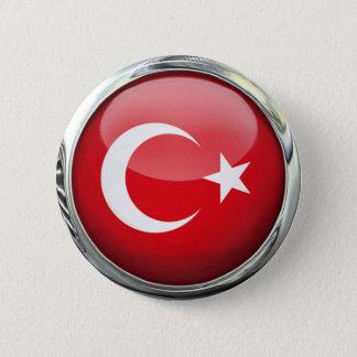 Bóton Redondo 5.08cm Bola de vidro da bandeira de Turquia