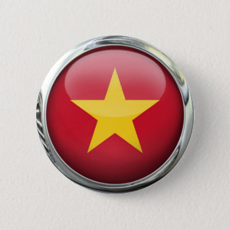 Bóton Redondo 5.08cm Bola de vidro da bandeira de Vietnam