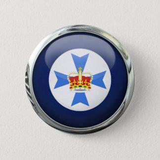 Bóton Redondo 5.08cm Bola de vidro da bandeira do estado de Queensland