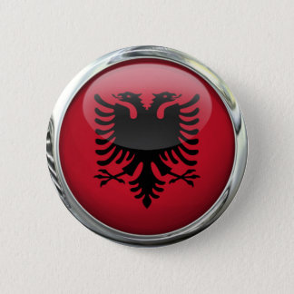 Bóton Redondo 5.08cm Bola de vidro redonda da bandeira de Albânia