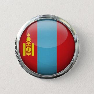 Bóton Redondo 5.08cm Bola de vidro redonda da bandeira de Mongolia