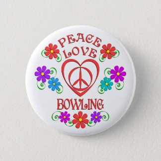 Bóton Redondo 5.08cm Boliche do amor da paz