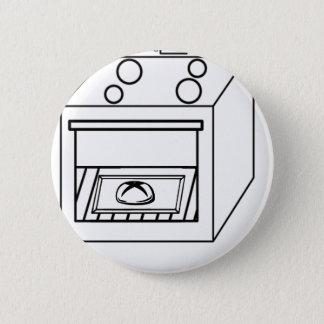 Bóton Redondo 5.08cm bolo no forno, bebê engraçado na mamã grávida da