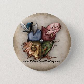 Bóton Redondo 5.08cm Bolsa de estudo do botão do logotipo da fantasia
