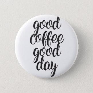 Bóton Redondo 5.08cm Bom dia do bom café