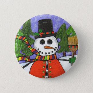 Bóton Redondo 5.08cm Boneco de neve do Natal - botão da mágica do
