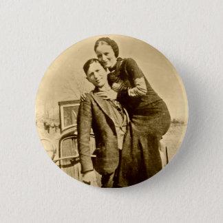 Bóton Redondo 5.08cm Bonnie e Clyde - grupo do carrinho de mão