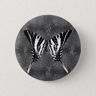 Bóton Redondo 5.08cm Borboleta de Swallowtail da zebra de Tennessee