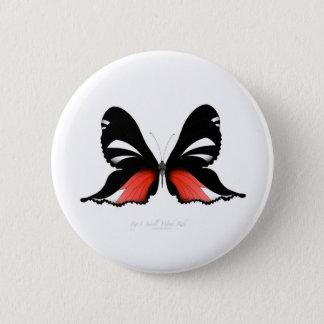 Bóton Redondo 5.08cm borboleta do vermelho do figo 3 por fernandes tony