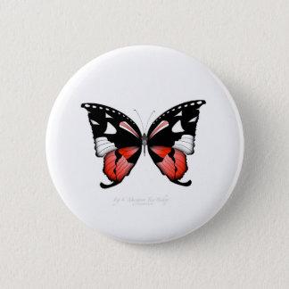 Bóton Redondo 5.08cm borboleta do vermelho do figo 4 por fernandes tony