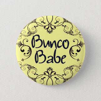Bóton Redondo 5.08cm Borracho de Bunco com botão dos redemoinhos