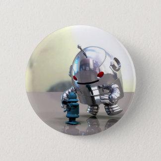 Bóton Redondo 5.08cm Bot de Jo CONTRA pouco botão azul do bot