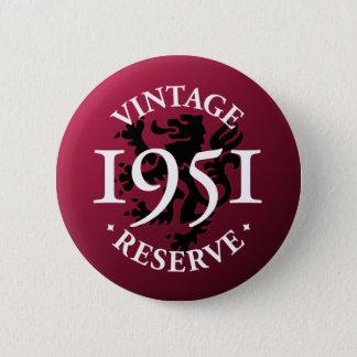 Bóton Redondo 5.08cm Botão 1951 de Pinback da reserva do vintage