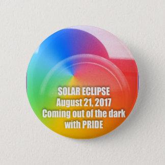 Bóton Redondo 5.08cm Botão 8-21-17 do eclipse solar do orgulho gay