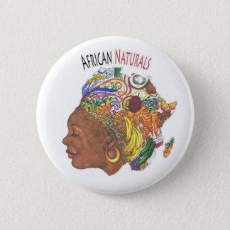 Bóton Redondo 5.08cm Botão africano da loja dos naturais