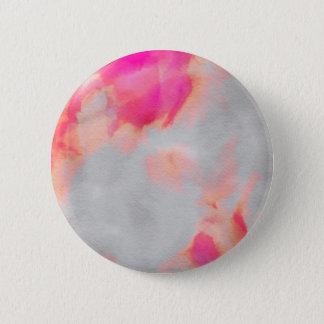 Bóton Redondo 5.08cm Botão alaranjado cor-de-rosa da lavagem