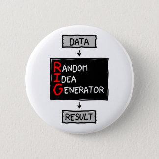 Bóton Redondo 5.08cm Botão aleatório do gerador da ideia (EQUIPE os