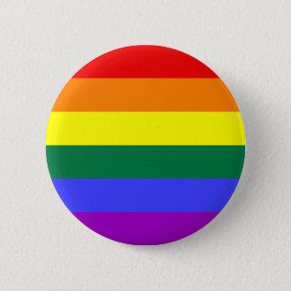 Bóton Redondo 5.08cm Botão alegre do arco-íris