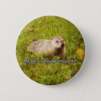 Bóton Redondo 5.08cm Botão alegre do dia de Groundhog