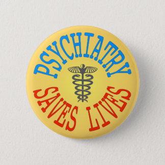 Bóton Redondo 5.08cm Botão alegre do Pro-Psiquiatria