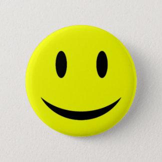 Bóton Redondo 5.08cm Botão amarelo do smiley face