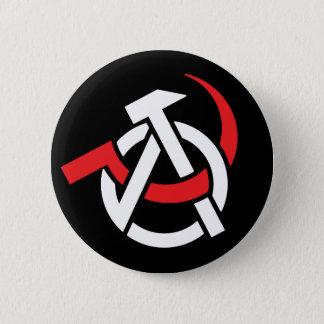 Bóton Redondo 5.08cm Botão Anarcho-Comunista do símbolo