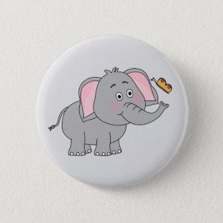 Bóton Redondo 5.08cm Botão animado do elefante