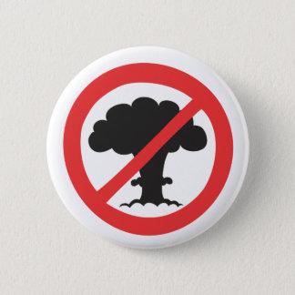 Bóton Redondo 5.08cm Botão: anti símbolo das armas nucleares