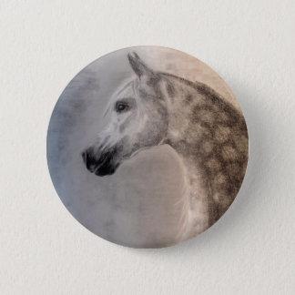 Bóton Redondo 5.08cm Botão árabe do cavalo