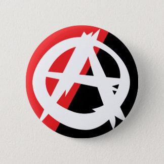 Bóton Redondo 5.08cm Botão áspero do símbolo da anarquia