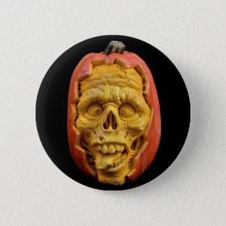 Bóton Redondo 5.08cm Botão assustador feliz da cara da abóbora do