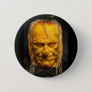 Bóton Redondo 5.08cm Botão assustador feliz da cara da abóbora do Dia
