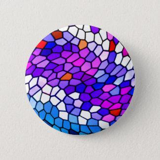 Bóton Redondo 5.08cm Botão azul cor-de-rosa roxo do teste padrão do