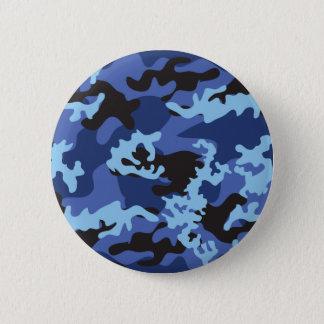 Bóton Redondo 5.08cm Botão azul feito sob encomenda de Camo