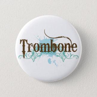 Bóton Redondo 5.08cm Botão azul legal do Trombone