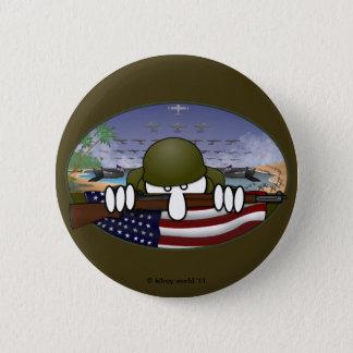 Bóton Redondo 5.08cm Botão básico de Kilroy da guerra mundial 2