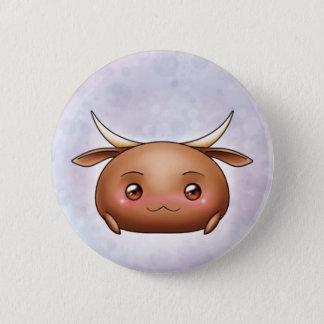 Bóton Redondo 5.08cm Botão bonito da gota do boi