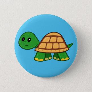 Bóton Redondo 5.08cm Botão bonito da tartaruga dos desenhos animados