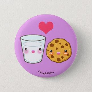 Bóton Redondo 5.08cm Botão bonito de Pinback do leite & do biscoito