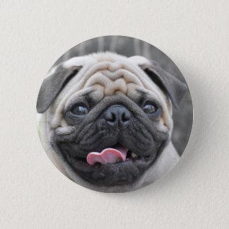 Bóton Redondo 5.08cm Botão bonito do Pin do crachá do Pug
