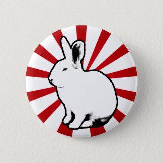 Bóton Redondo 5.08cm Botão branco da listra dos doces do coelho de