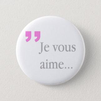 Bóton Redondo 5.08cm Botão branco francês de JE VOUS AIME