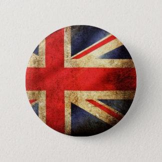 Bóton Redondo 5.08cm Botão britânico da bandeira do Grunge