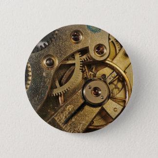 Bóton Redondo 5.08cm Botão: Bronze Hearted. Mecanismo do relógio