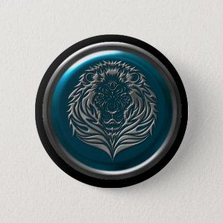 Bóton Redondo 5.08cm Botão celta do leão do ferro Azure